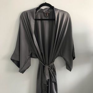 Victoria's Secret Grey Silky Robe